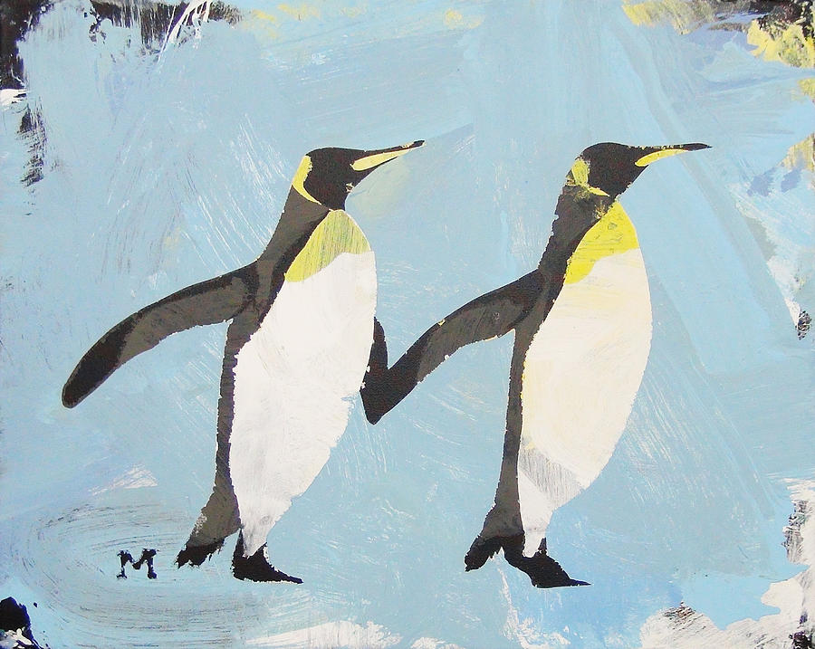Horse Painting - Perfect Penguins by Candace Shrope