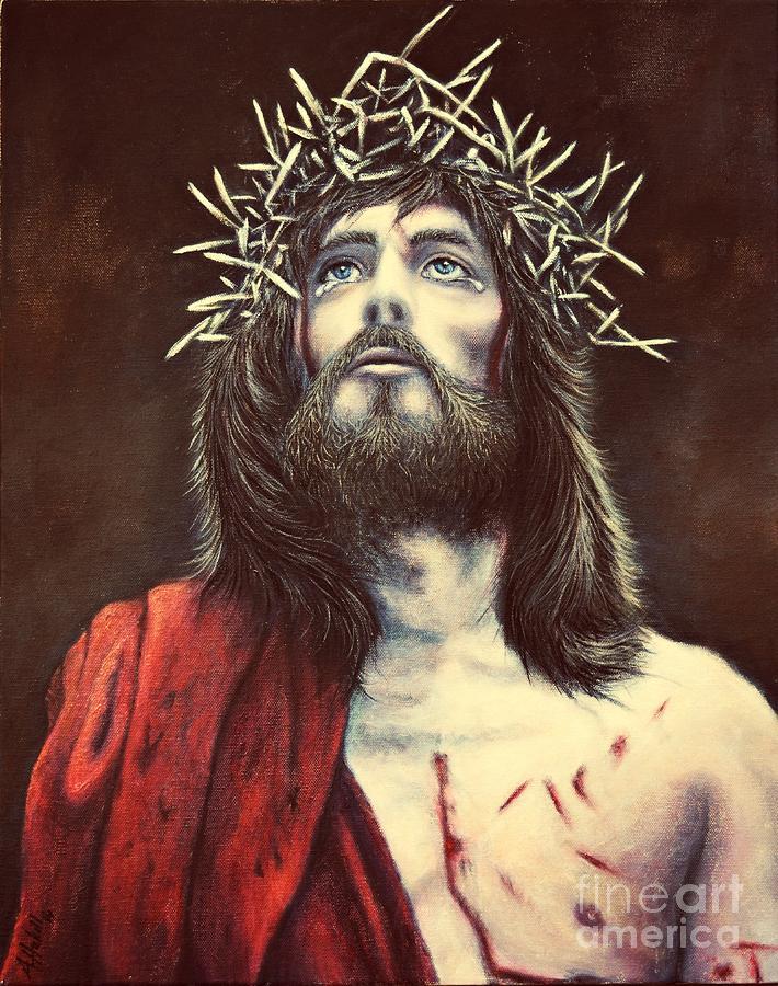 Jesus Painting - Perfect Sacrifice 2 by Amanda Hukill