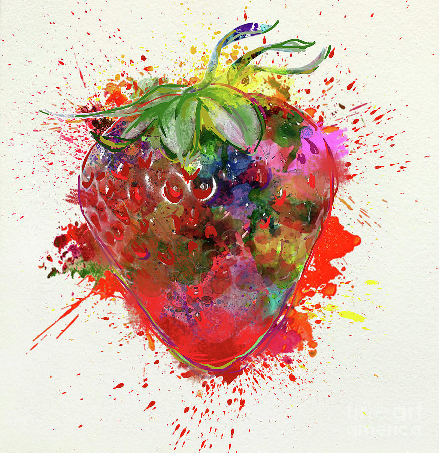 Strawberry Painting - Perfect Strawberry by N Wolfgang