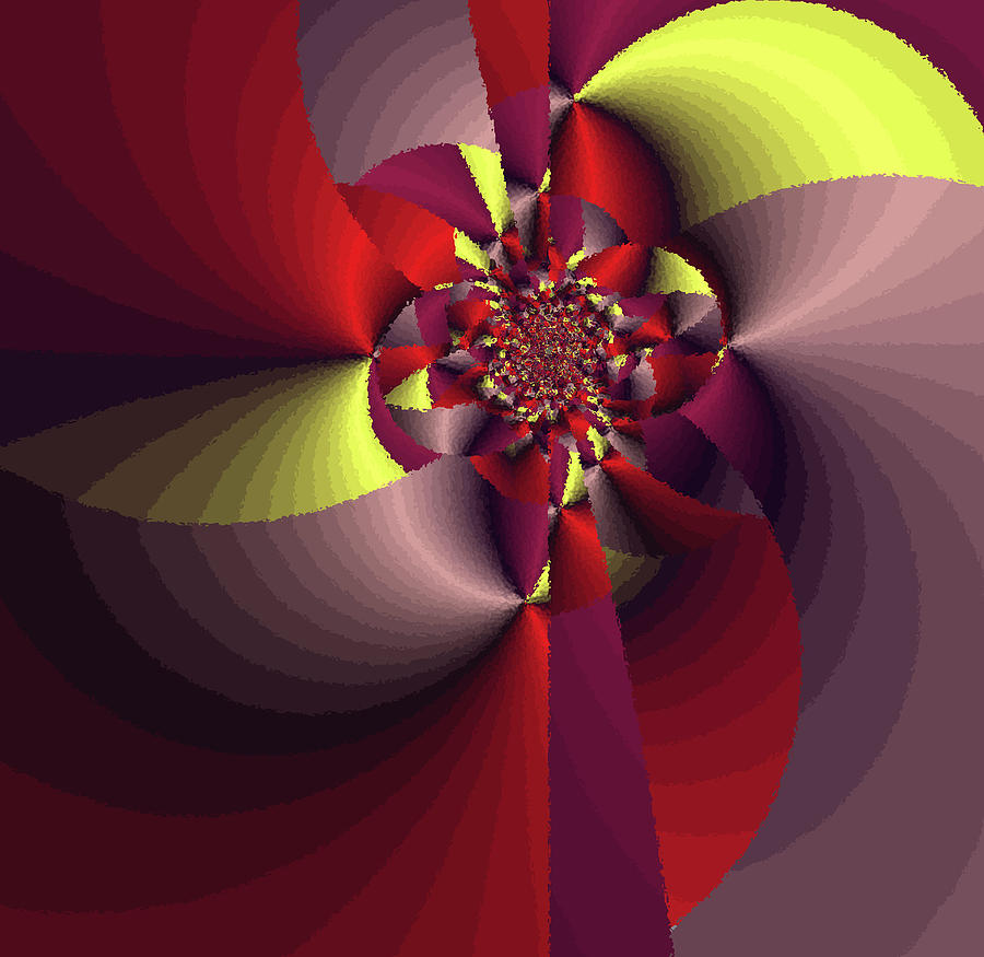 Ruby Red Digital Art - Perfectly Wrapped by Bonnie Bruno