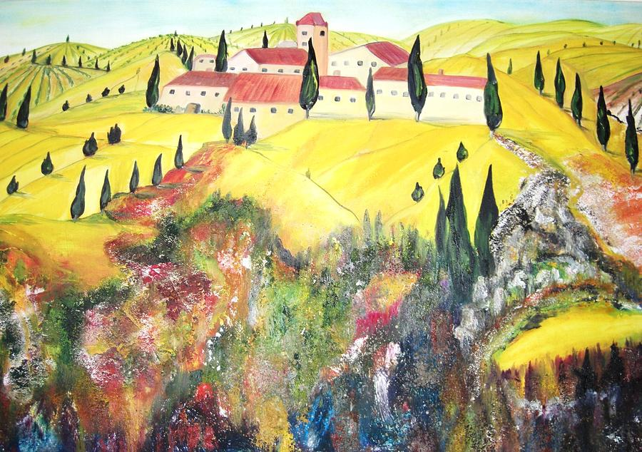 Landscapes Painting - Pergolato Italy by Hannelore Amon