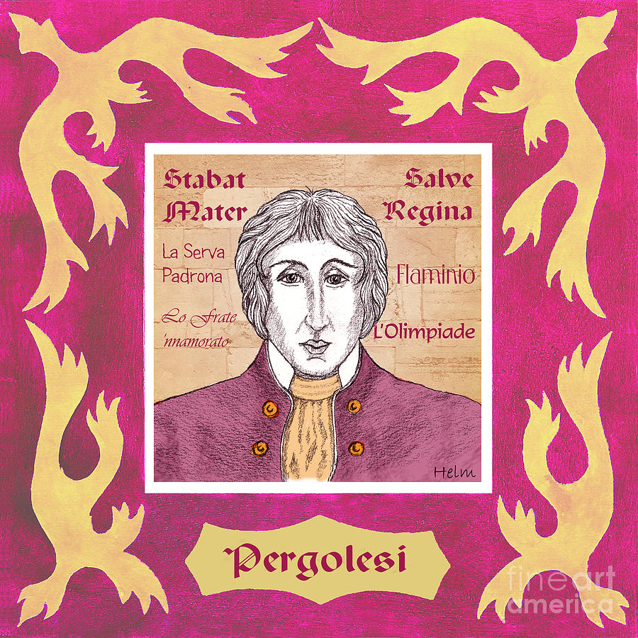 Pergolesi Drawing - Pergolesi by Paul Helm