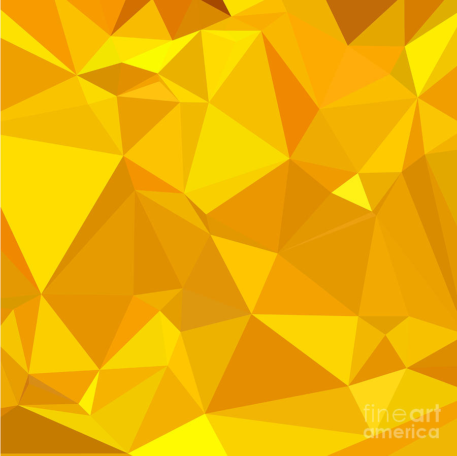 Peridot Yellow Abstract Low Polygon Background Digital Art
