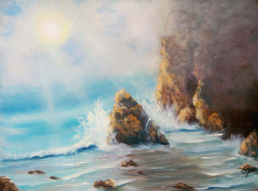 Seascape Painting - Perilous Shore by Joni McPherson