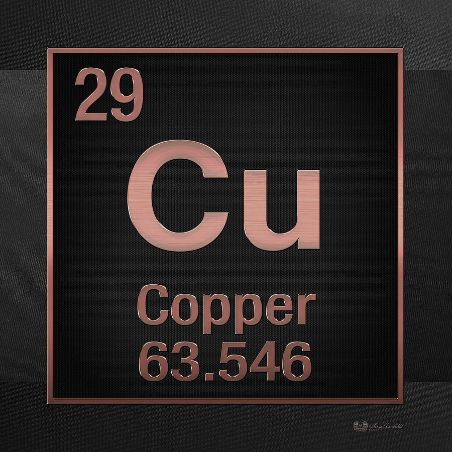 Periodic table of elements copper cu copper on black digital chemistry digital art periodic table of elements copper cu copper on black buycottarizona