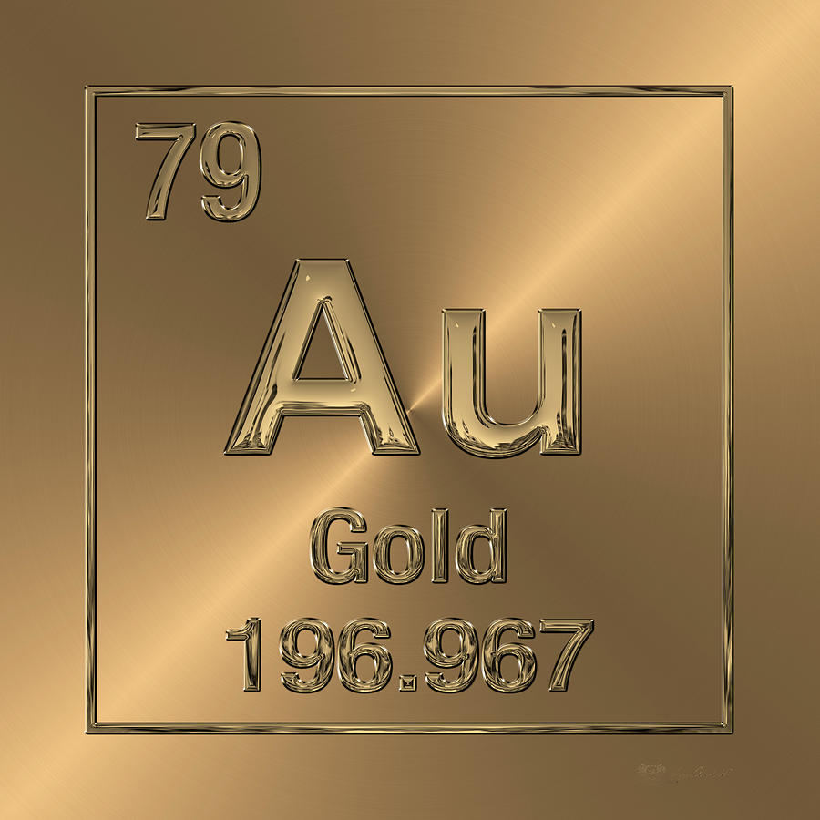 Periodic table of elements gold au digital art by serge averbukh chemistry digital art periodic table of elements gold au by serge averbukh urtaz Image collections