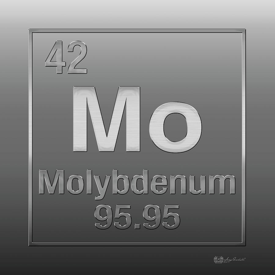Periodic table of elements molybdenum mo on molybdenum chemistry digital art periodic table of elements molybdenum mo on molybdenum by gamestrikefo Choice Image