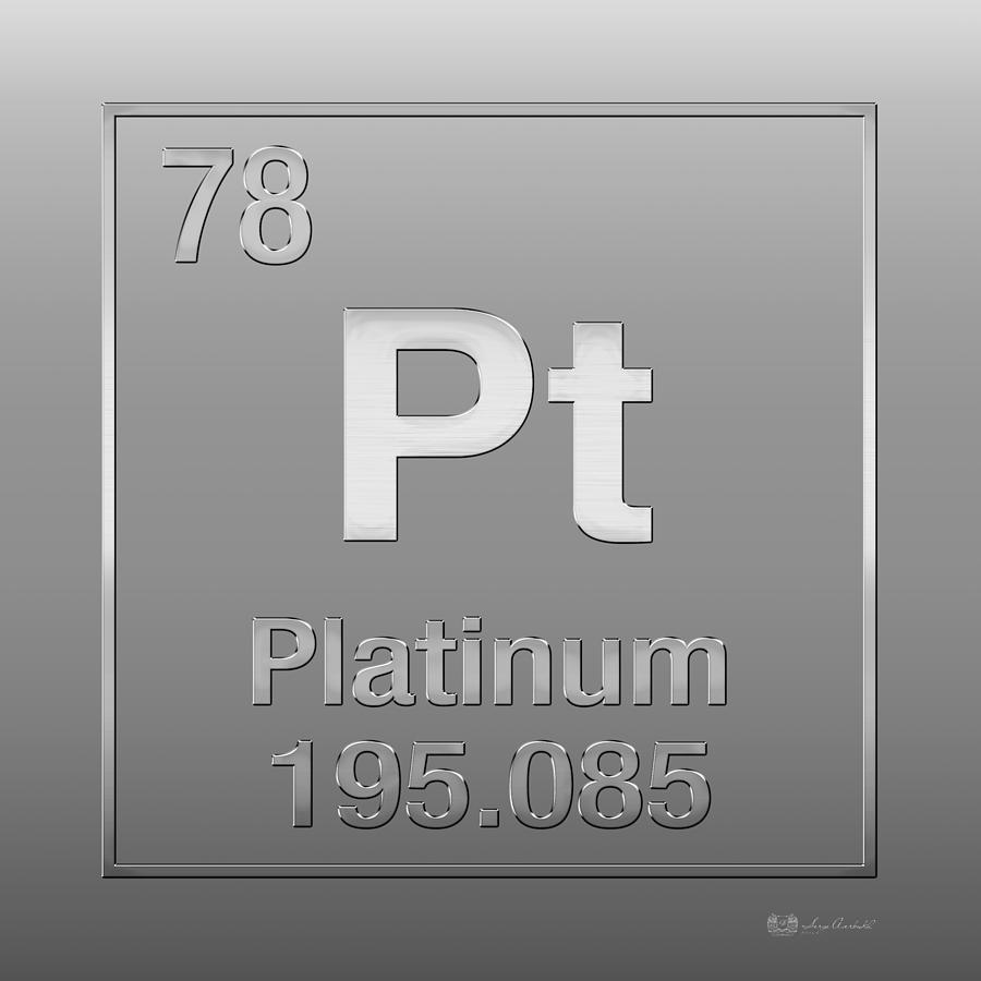 Periodic Table Of Elements Platinum Pt Platinum On Platinum