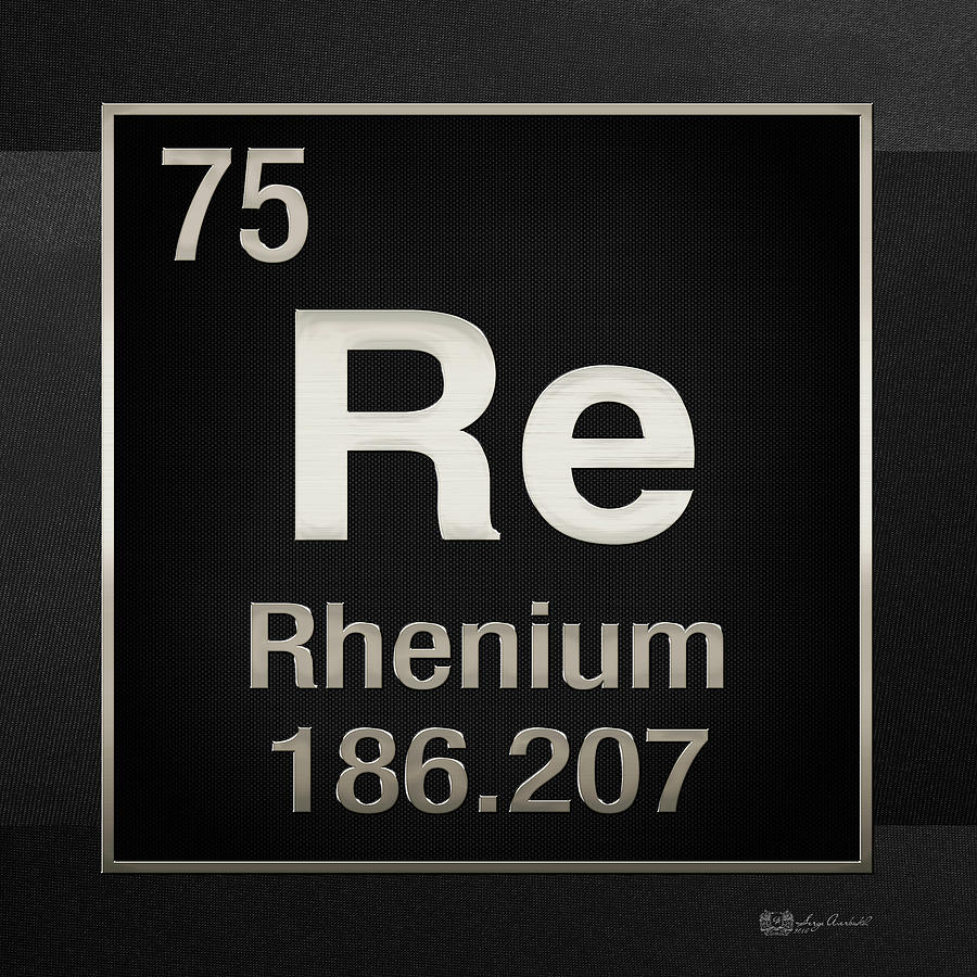 Periodic table of elements rhenium re on black digital art chemistry digital art periodic table of elements rhenium re on black by gamestrikefo Gallery