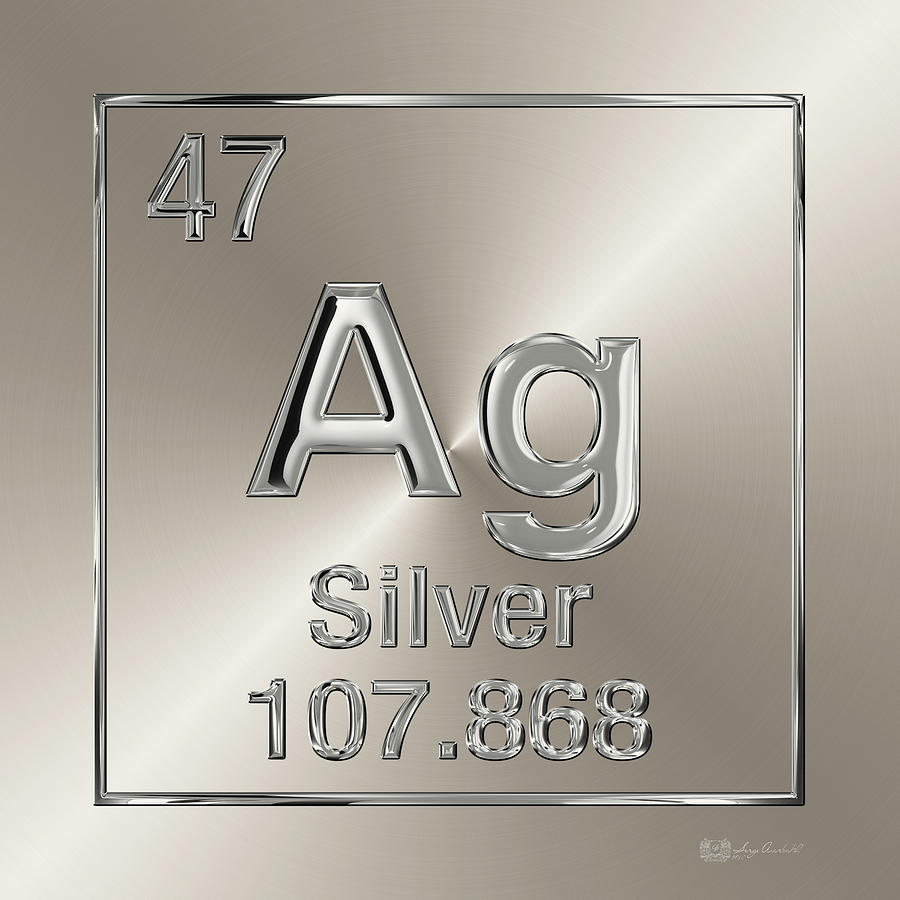 Periodic table of elements silver ag digital art by serge averbukh chemistry digital art periodic table of elements silver ag by serge averbukh urtaz Image collections