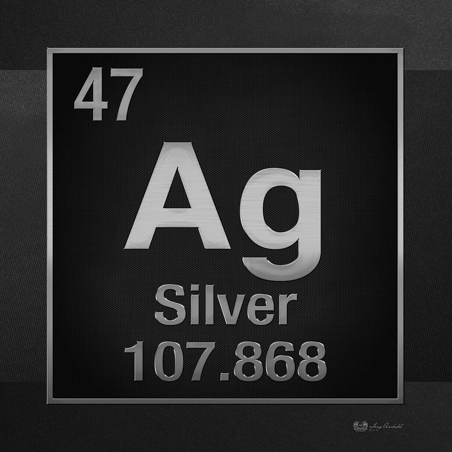 Periodic table of elements silver ag silver on black digital chemistry digital art periodic table of elements silver ag silver on black buycottarizona
