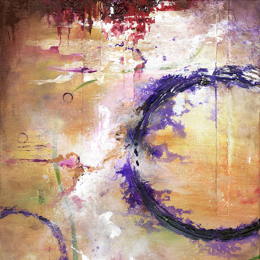 Grunge Painting - Perpetual Motion - Squared by Jenny Bagwill