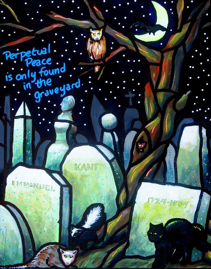 Tombstones Painting - Perpetual Peace by Jim Harris
