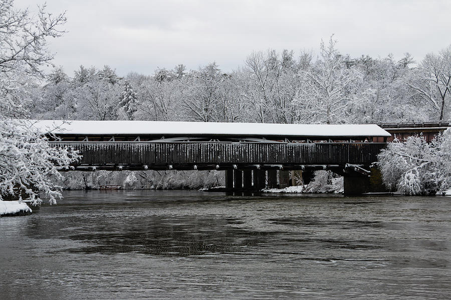 Bridge Photograph - Perrines Bridge After the NorEaster by Jeff Severson