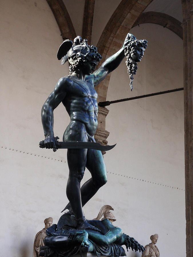 Bronze Photograph - Perseus And Medusa by Edan Chapman