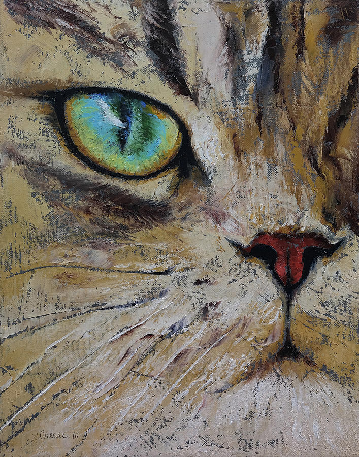 Cat Painting - Persian Cat by Michael Creese