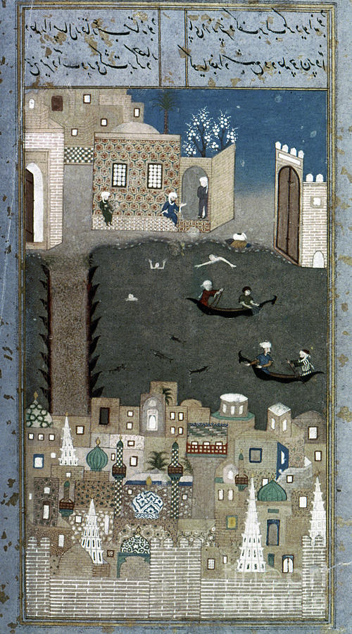 1468 Painting - Persian Miniature, 1468 by Granger