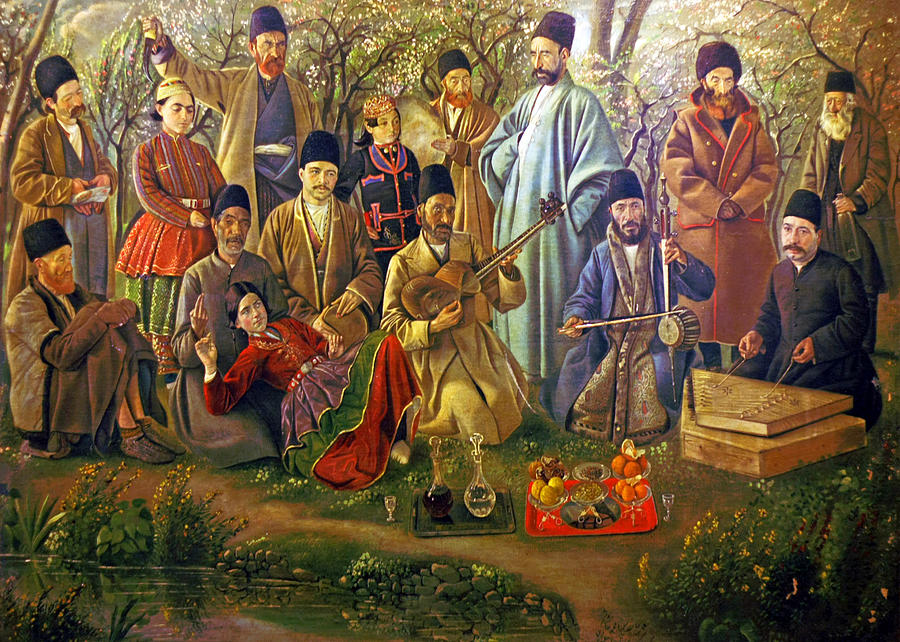 Persian Musical Group Painting