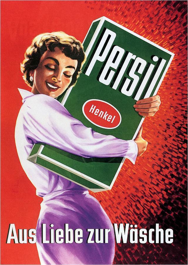 Persil - Henkel - Vintage Advertising Poster Mixed Media