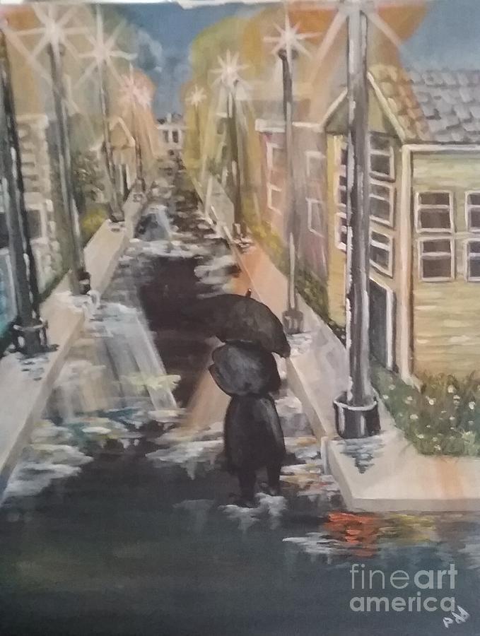 Rain Painting - Persistence by Saundra Johnson