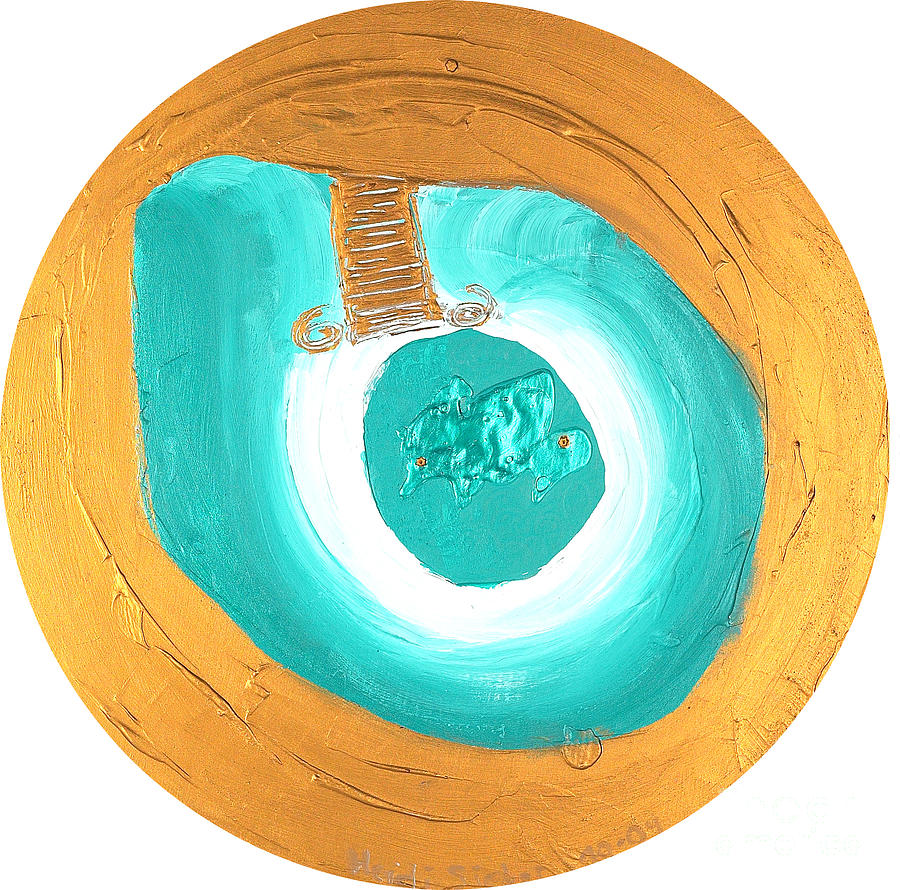 Turquoise Relief - Personal milestone No. 48 by Heidi Sieber