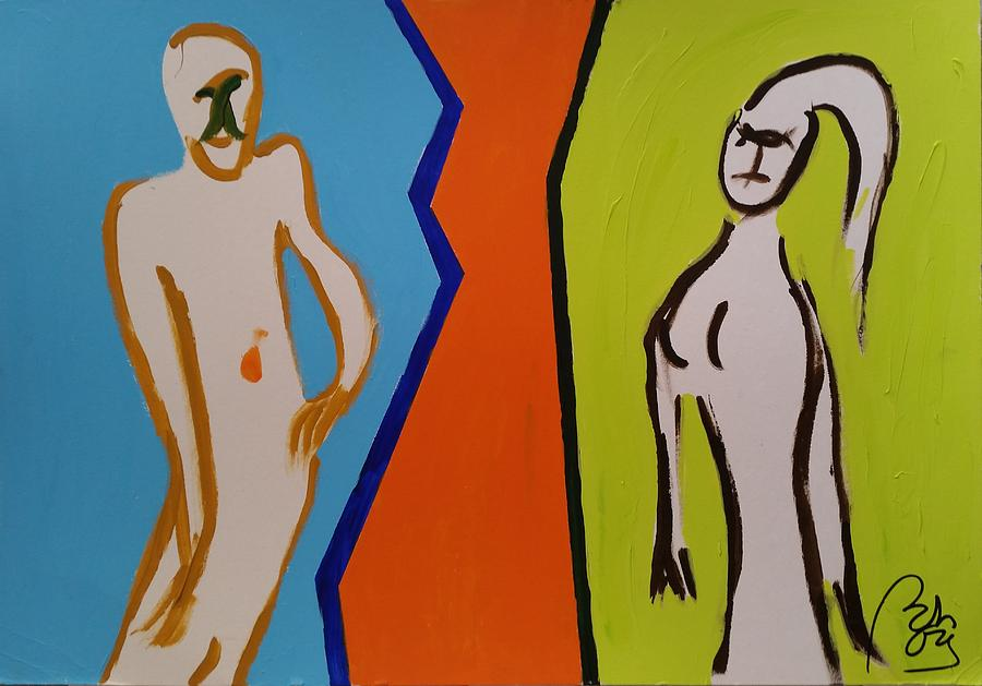 Relationship Painting - Personal relations.interactions by Bachmors Artist