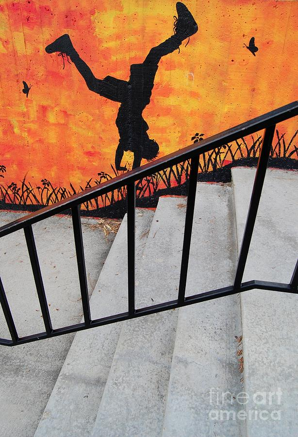 Stairway Photograph - Perspective by Merrimon Crawford