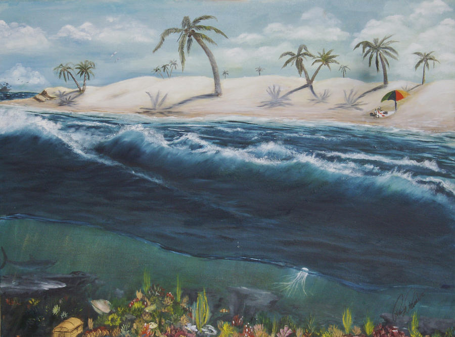 Ocean Painting - Perspective by Roger Rambo