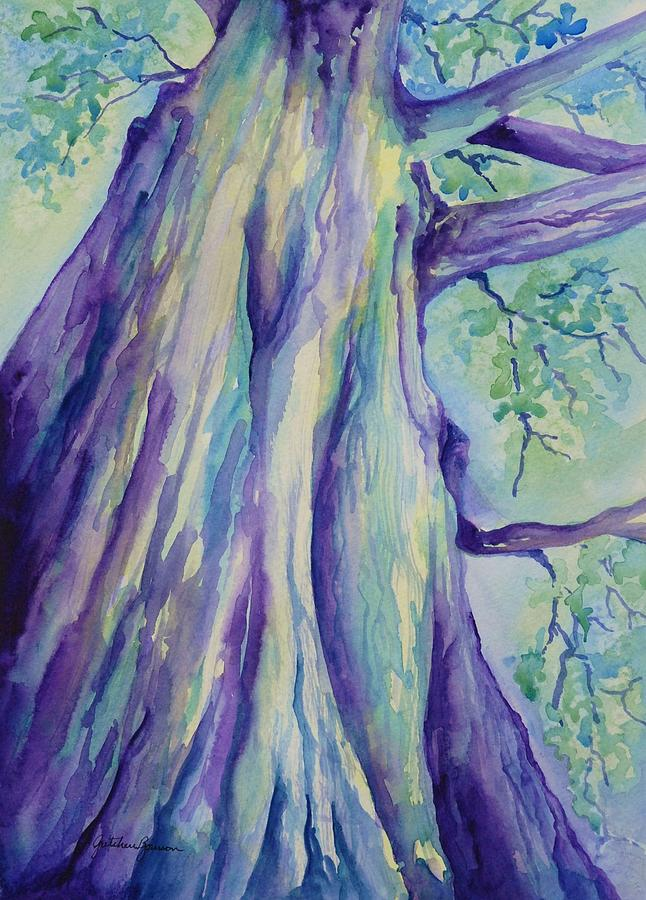 Tree Painting - Perspective Tree by Gretchen Bjornson