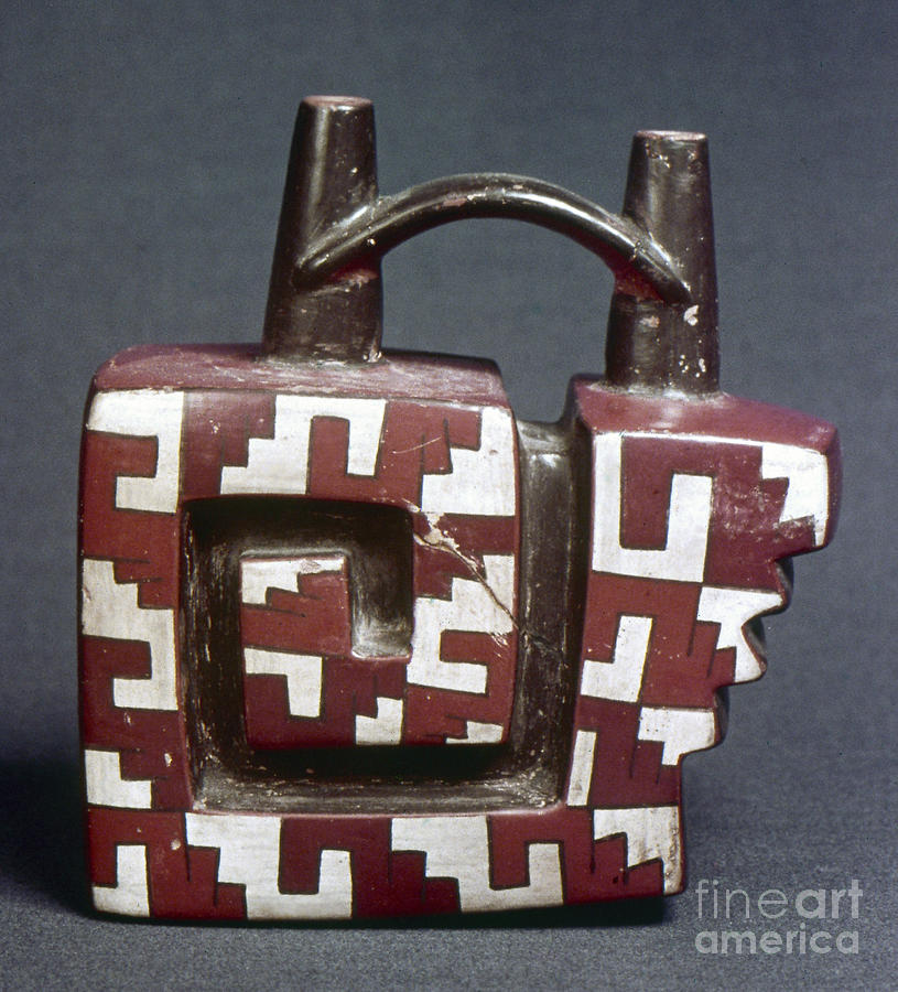 Ancient Photograph - Peru: Pre-columbian Vessel by Granger