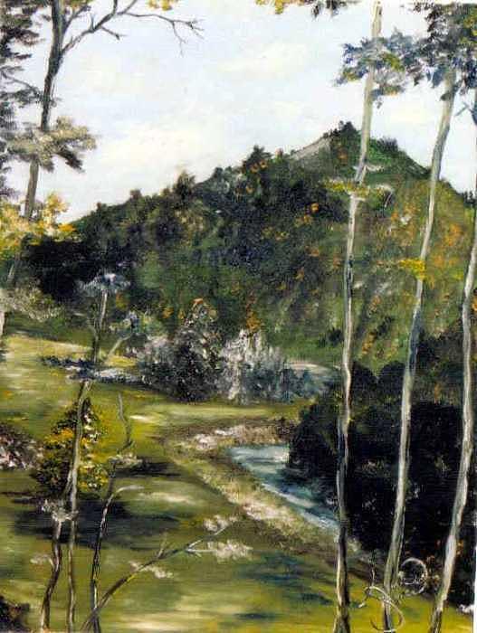 Peru Painting - Peru Stream SOLD by Amanda  Sanford
