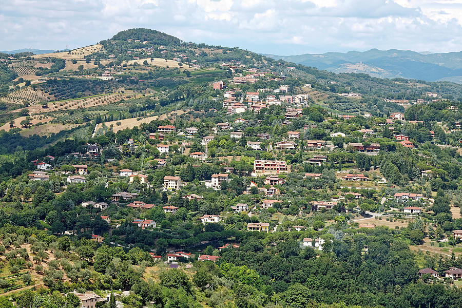 Landscape Scene Photograph - Perugia Countryside by Sally Weigand