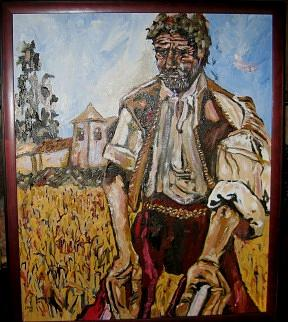 Peruvian Field Worker Painting by Lila Witt Locati