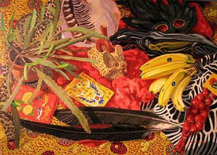 Peru Painting - Peruvian Fruit Bat Water Bottle by Margie Guyot