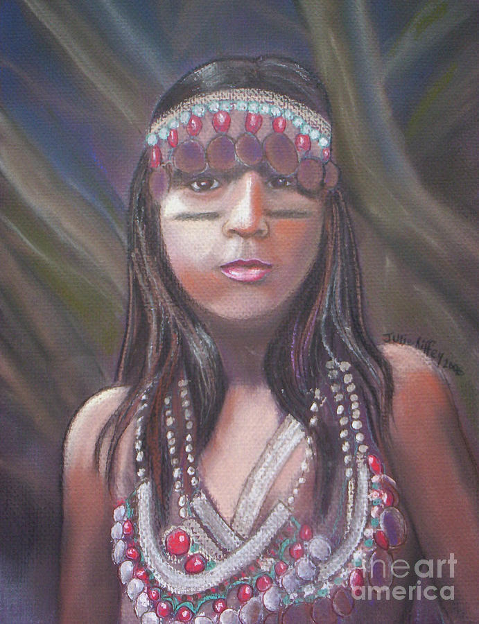 Pastel Pastel - Peruvian Girl by Julie Brugh Riffey