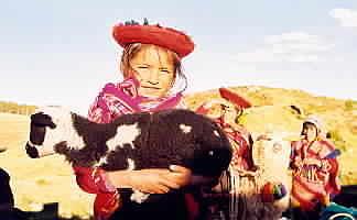 Peru Photograph - Peruvian Girl by Kathy Schumann