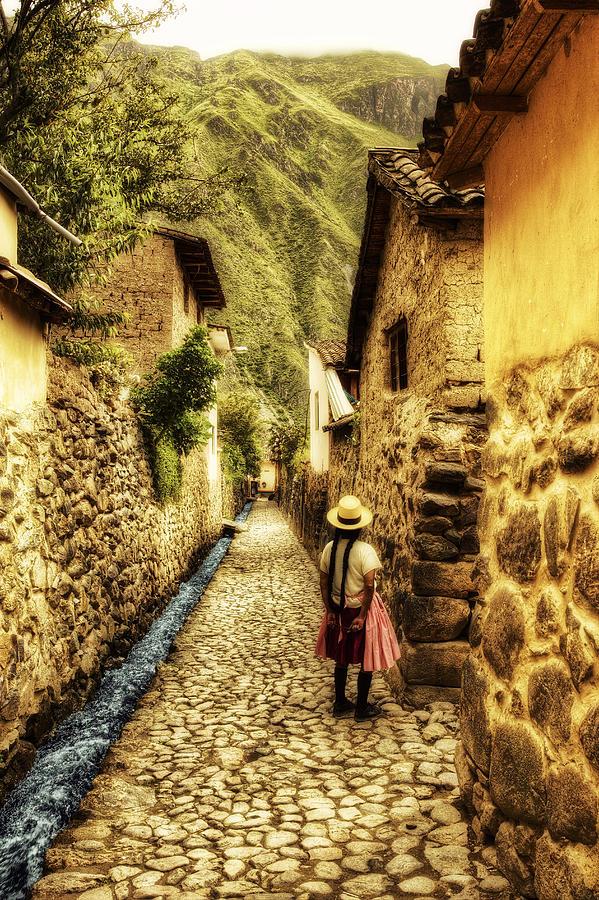Yellow Photograph - Peruvian Streets by Stuart Deacon