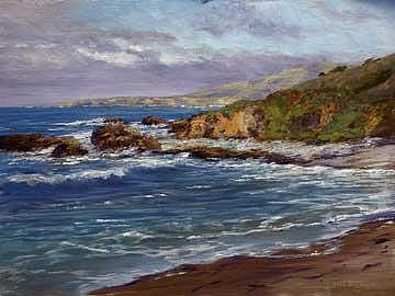 Pescadero Cove Painting by Donald Neff