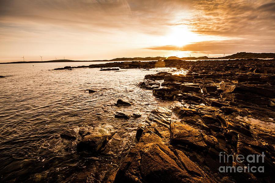 Sunrise Photograph - Petal Point Ocean Sunrise by Jorgo Photography - Wall Art Gallery