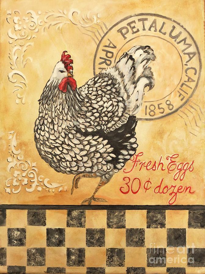 Petaluma Painting - Petaluma Chicken by Holly Bartlett Brannan