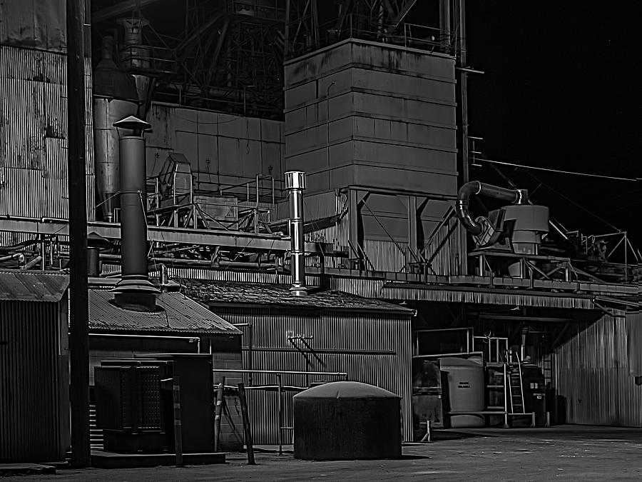 Petaluma Mill Black And White Photograph