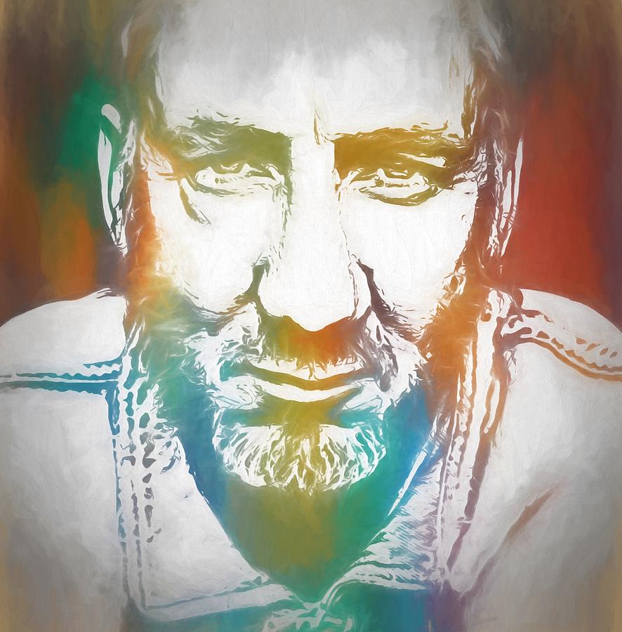 Pete Townshend Painting - Pete Townshend Color Tribute by Dan Sproul