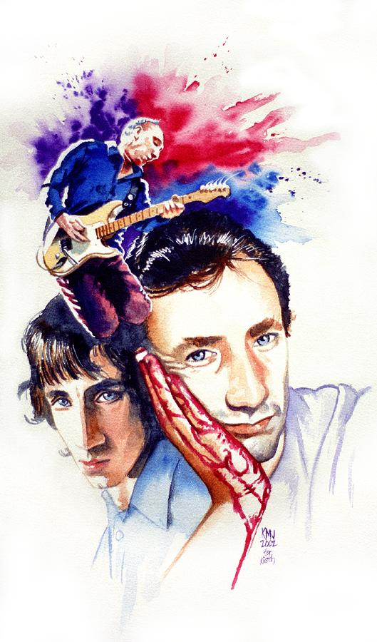 The Who Painting - Pete Townshend by Ken Meyer jr