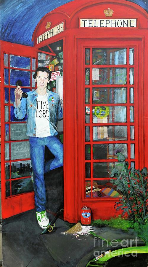Peter Painting - Peter Capaldi Dr Who Putting You Through by Michelle Deyna-Hayward