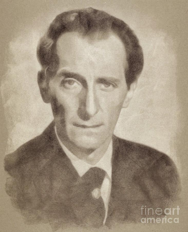Peter Cushing, Acting Legend By John Springfield Drawing
