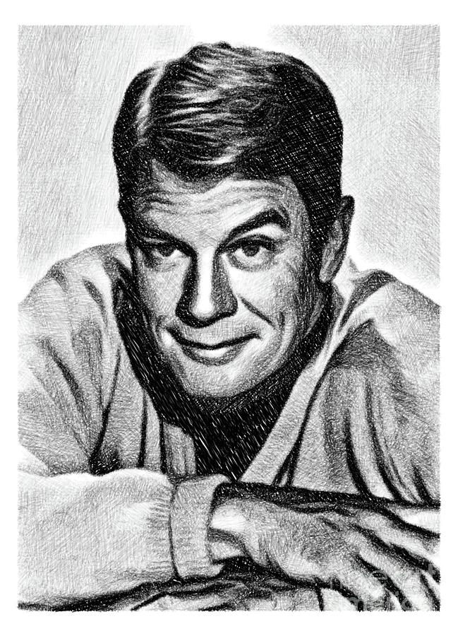 Peter Graves, Vintage Actor By Js Drawing