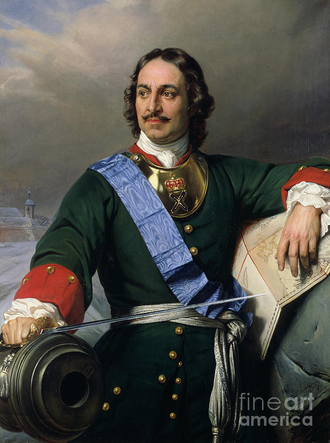 Peter I The Great Painting - Peter I The Great by Delaroche