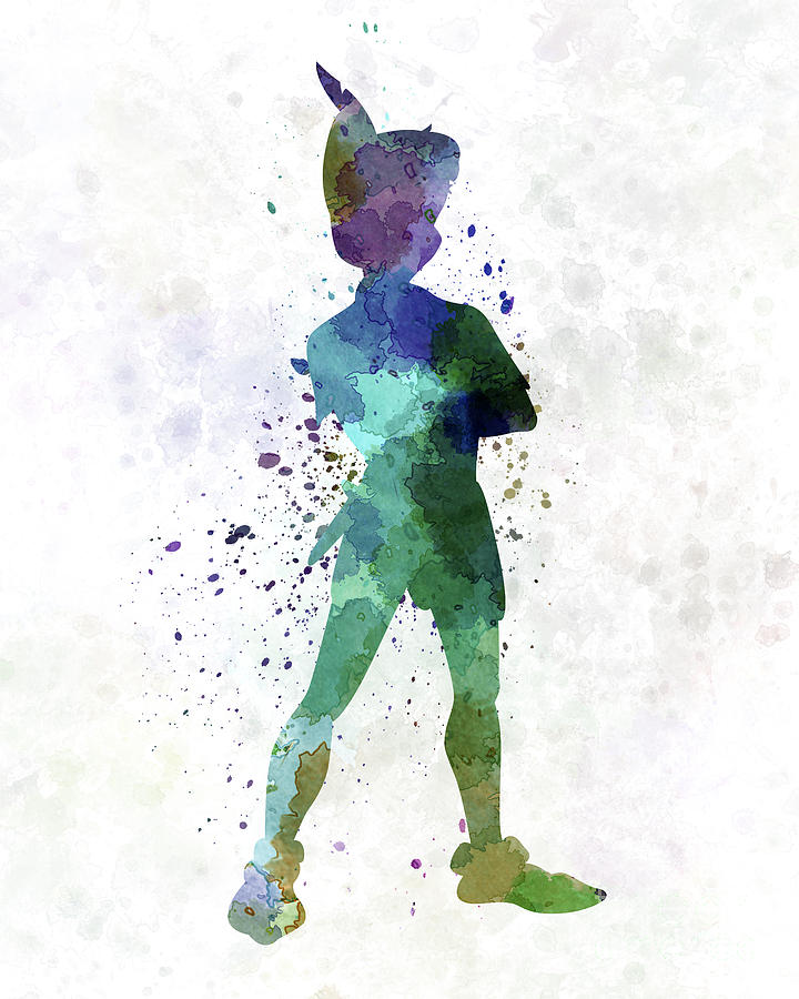 Peter Pan In Watercolor Painting By Pablo Romero
