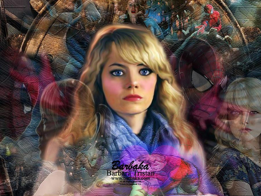 Creative Energy Digital Art - Peter Parkers Haunting Memories of Gwen Stacy by Barbara Tristan
