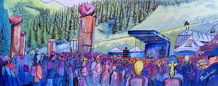 Copper Mountain Painting - Peter Rowen At Copper Mountain by David Sockrider